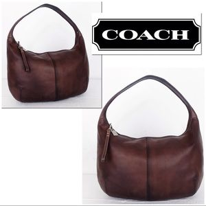 Coach Intentionally Distressed Leather Ergo Hobo